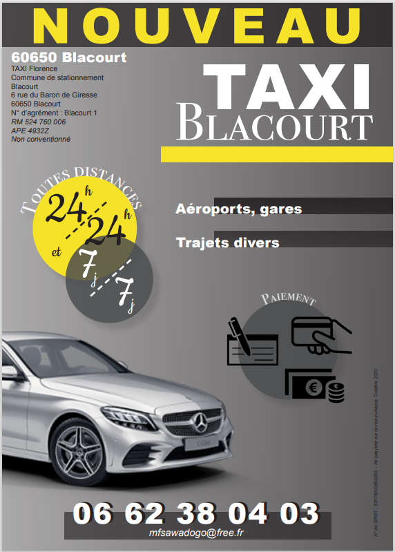 image flyer TAXI Blacourt